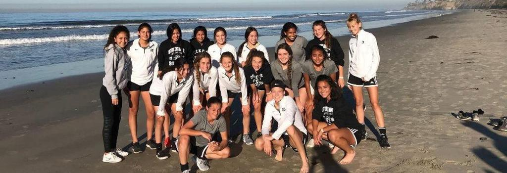 Girls Soccer team in San Diego for the Oceanside Winter Classic