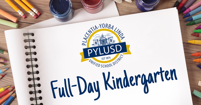 Full-day kindergarten graphic for PYLUSD.