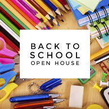 back to school image scissors and colored pencils