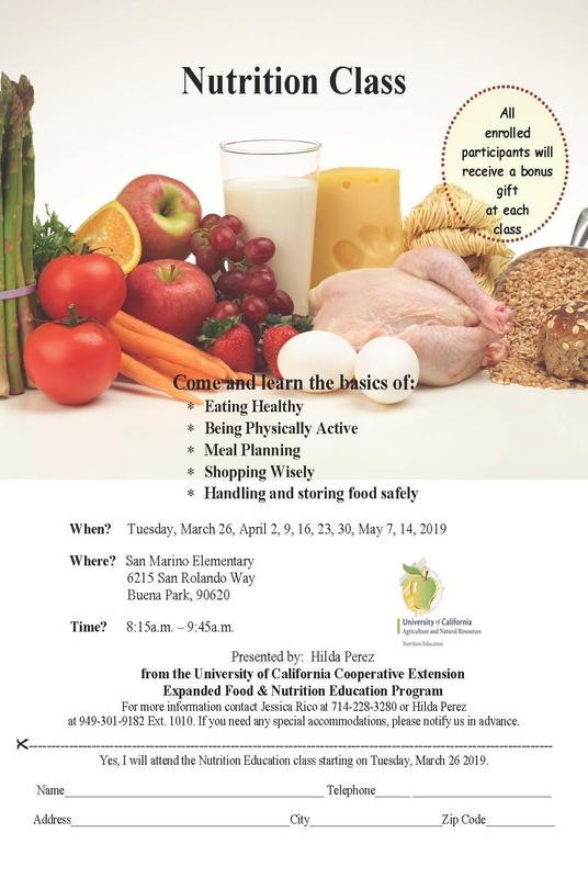 Nutrition Class Flyer