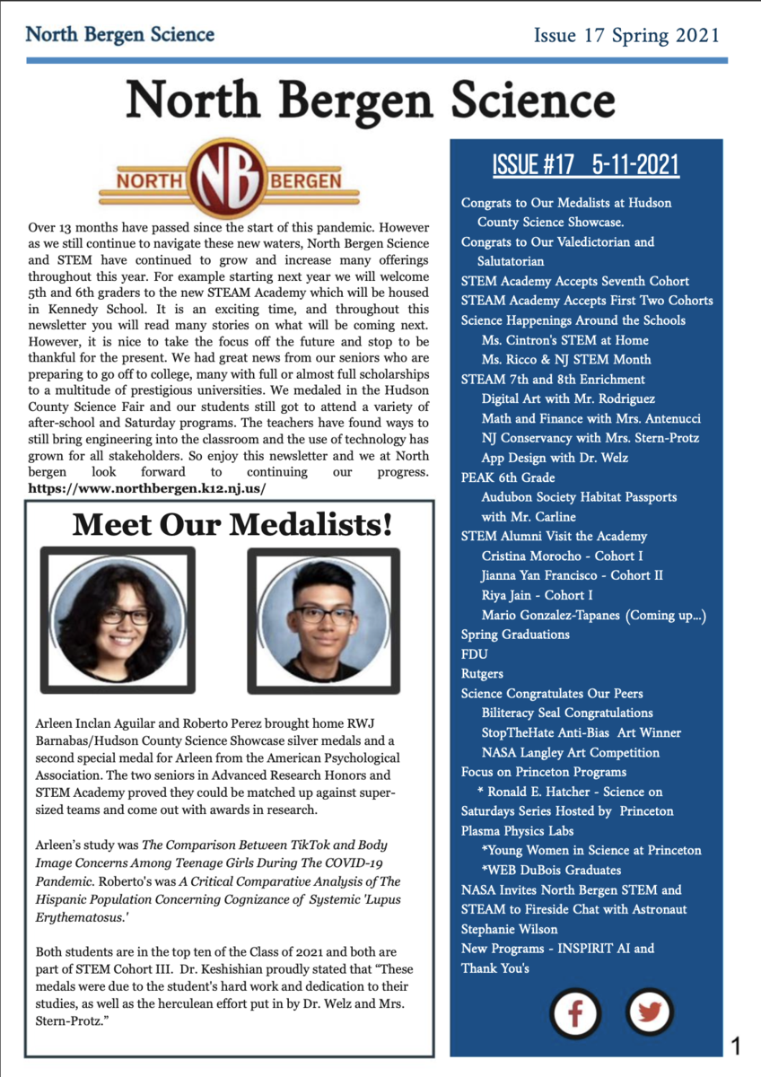 Cover May 2021 Newsletter