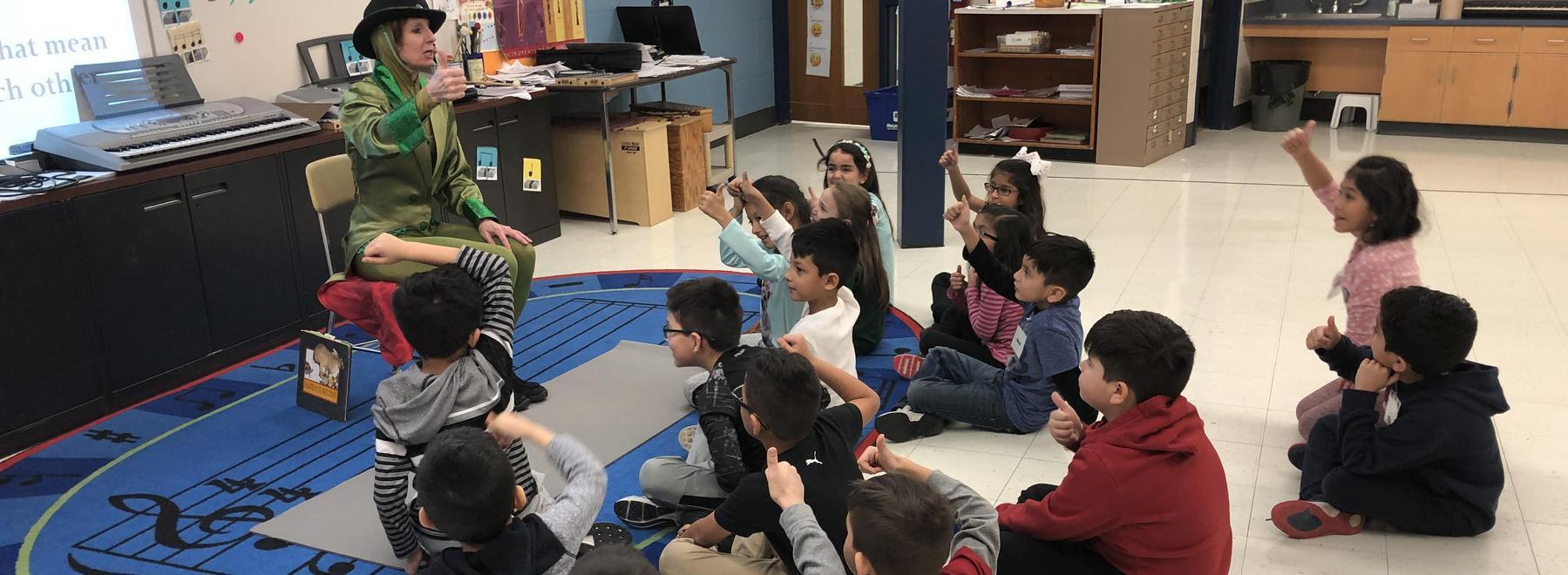 Salt Creek Ballet class with 2nd graders