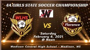 WLHS Girls Soccer State Championship Graphic