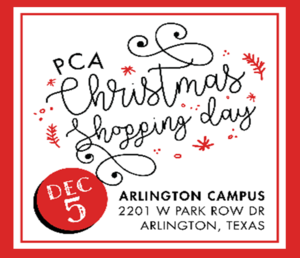 PCA Christmas Shopping Day - Dec 5th