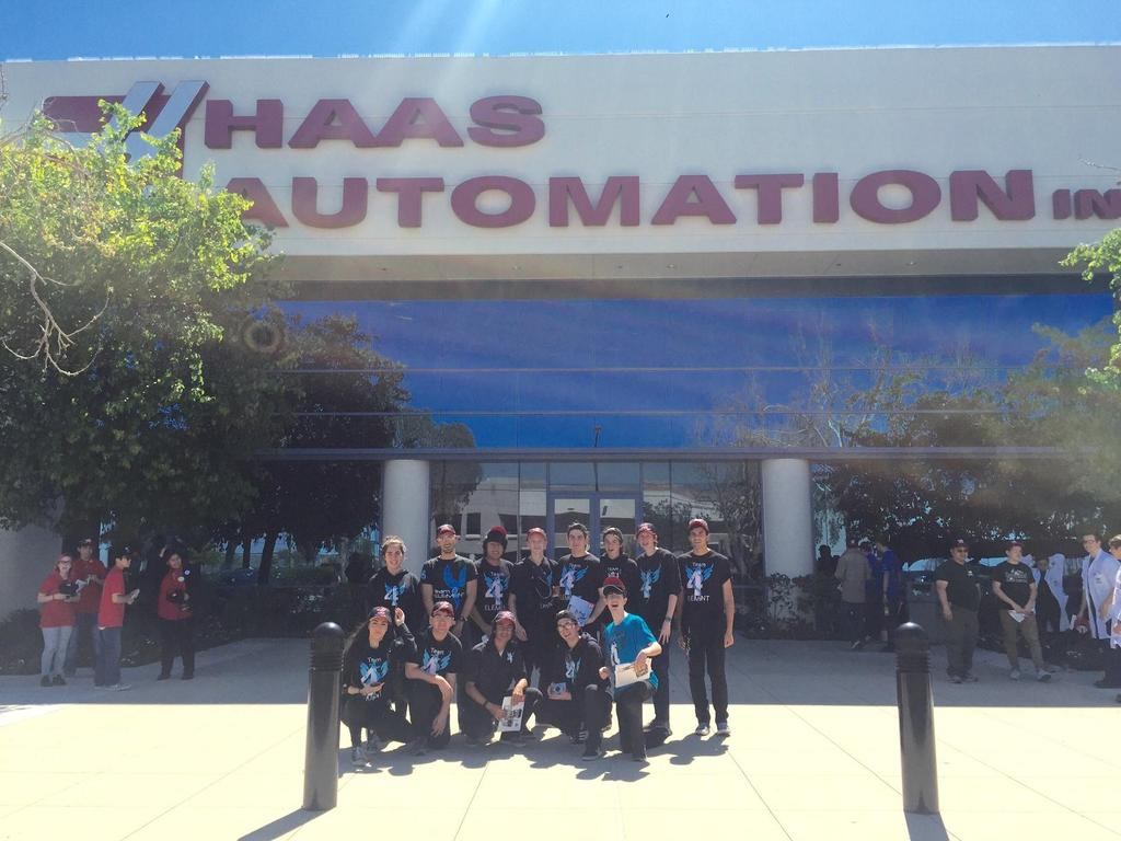 Group picture outside of Haas Automation