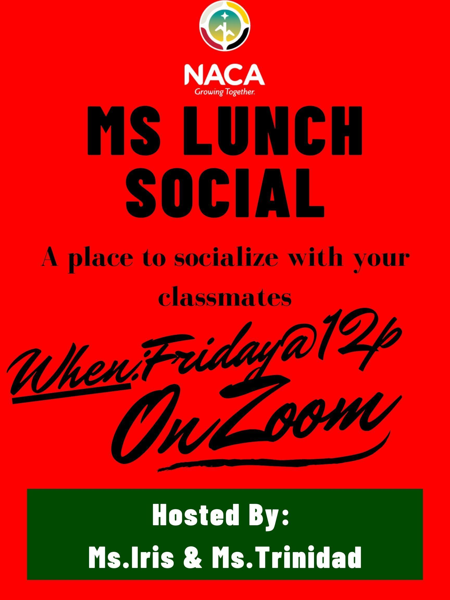 MS OST lunch social