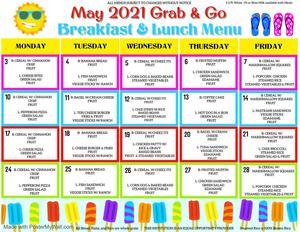May Grab & Go Menu
