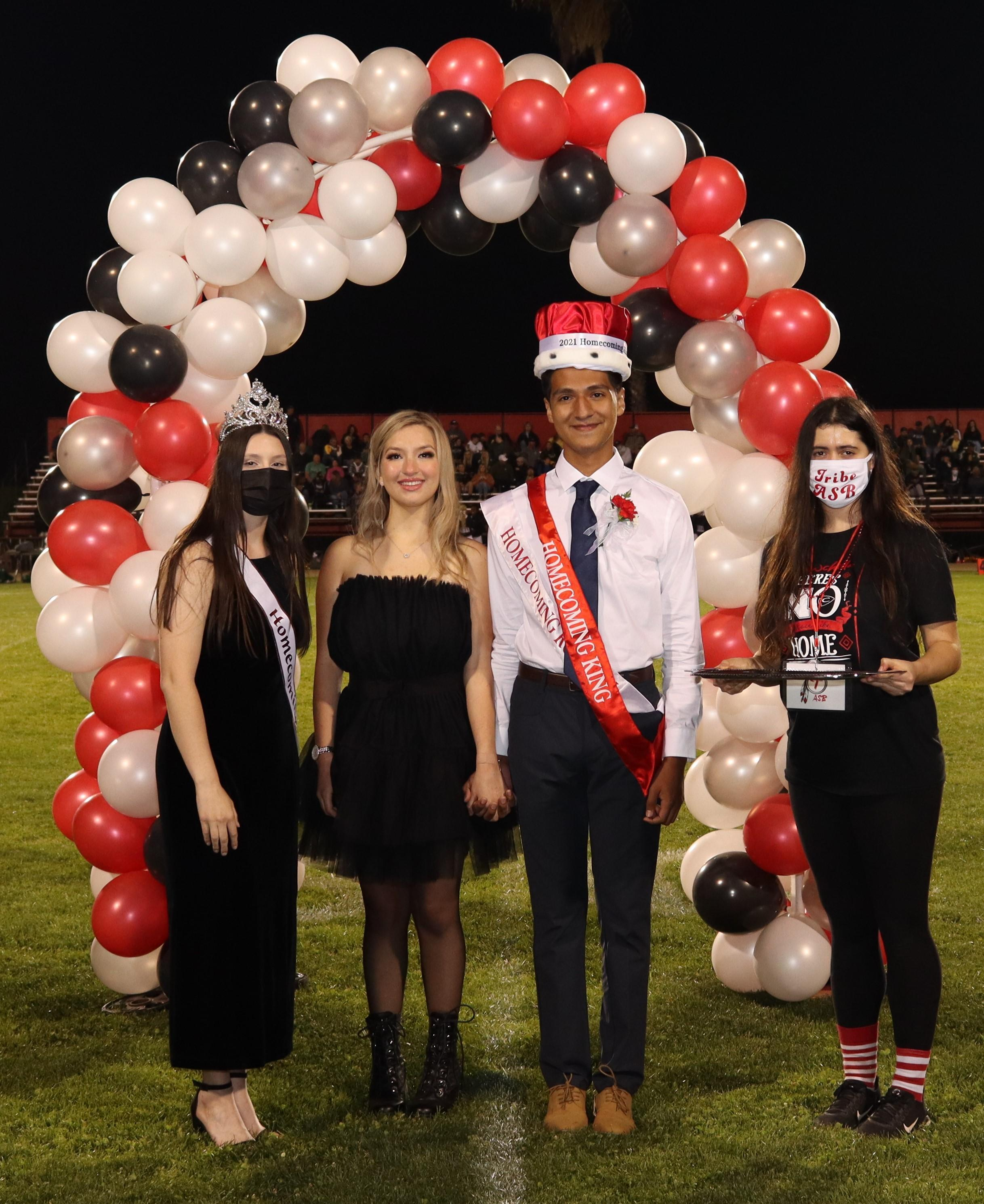 homecoming candidates at halftime