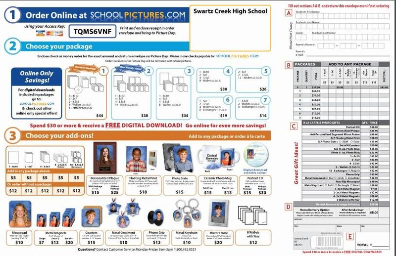 Picture Order Form for 2020-2021 Featured Photo
