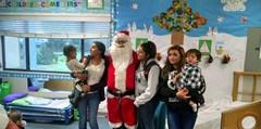 Santa Visits the child care center