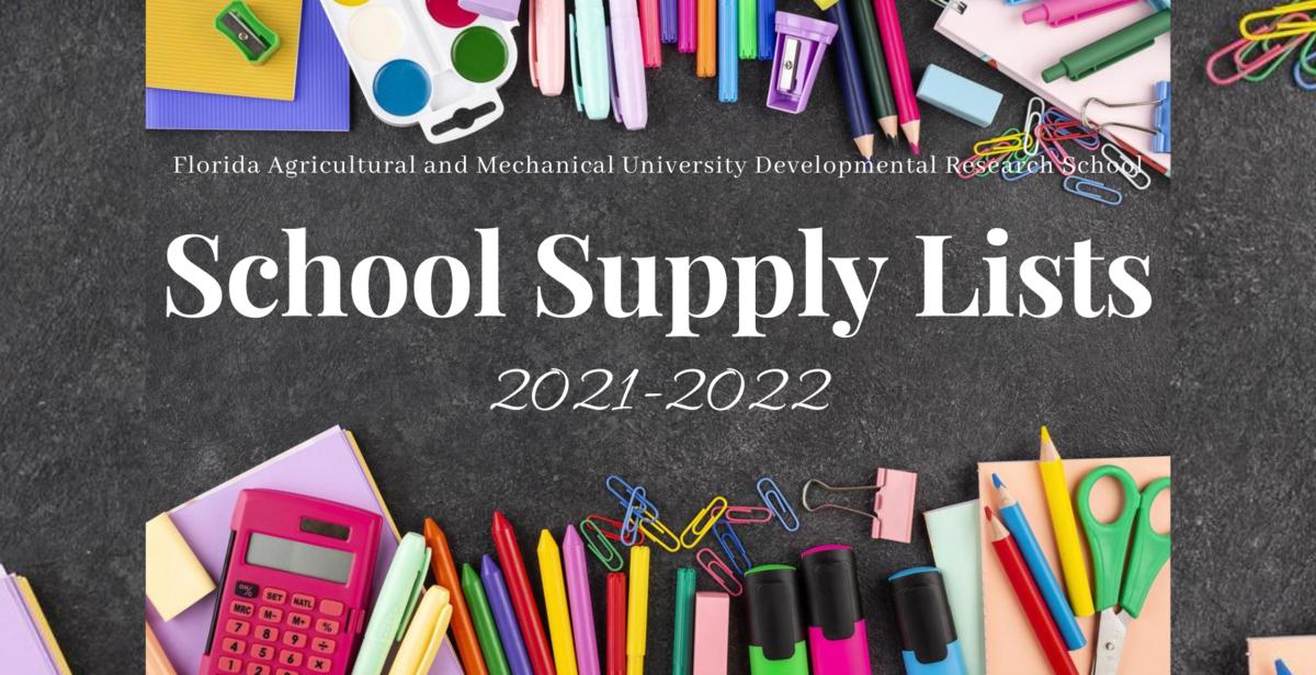 FAMU DRS school supply lists graphic