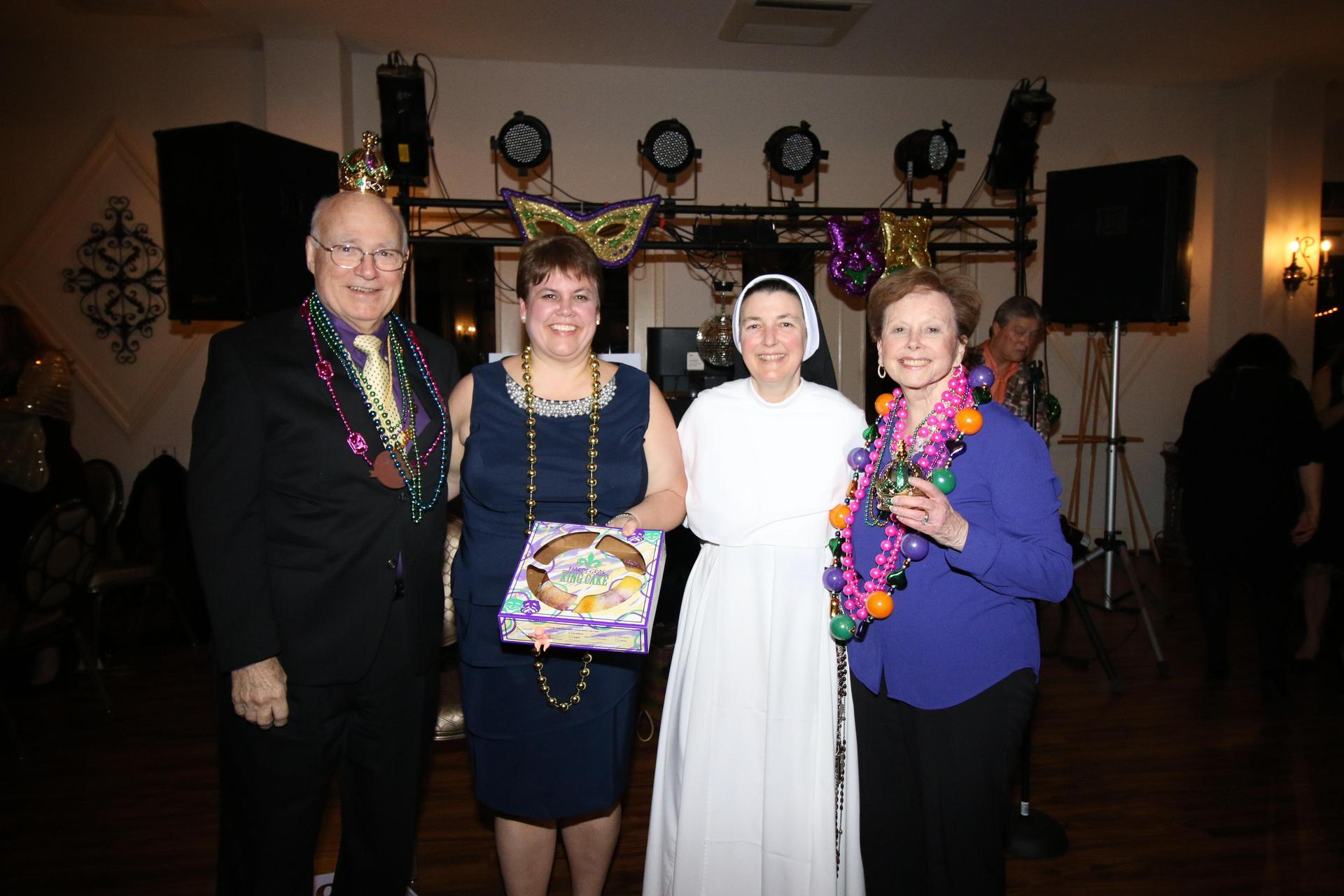 The King and Queen of Mardi Gras are crowned