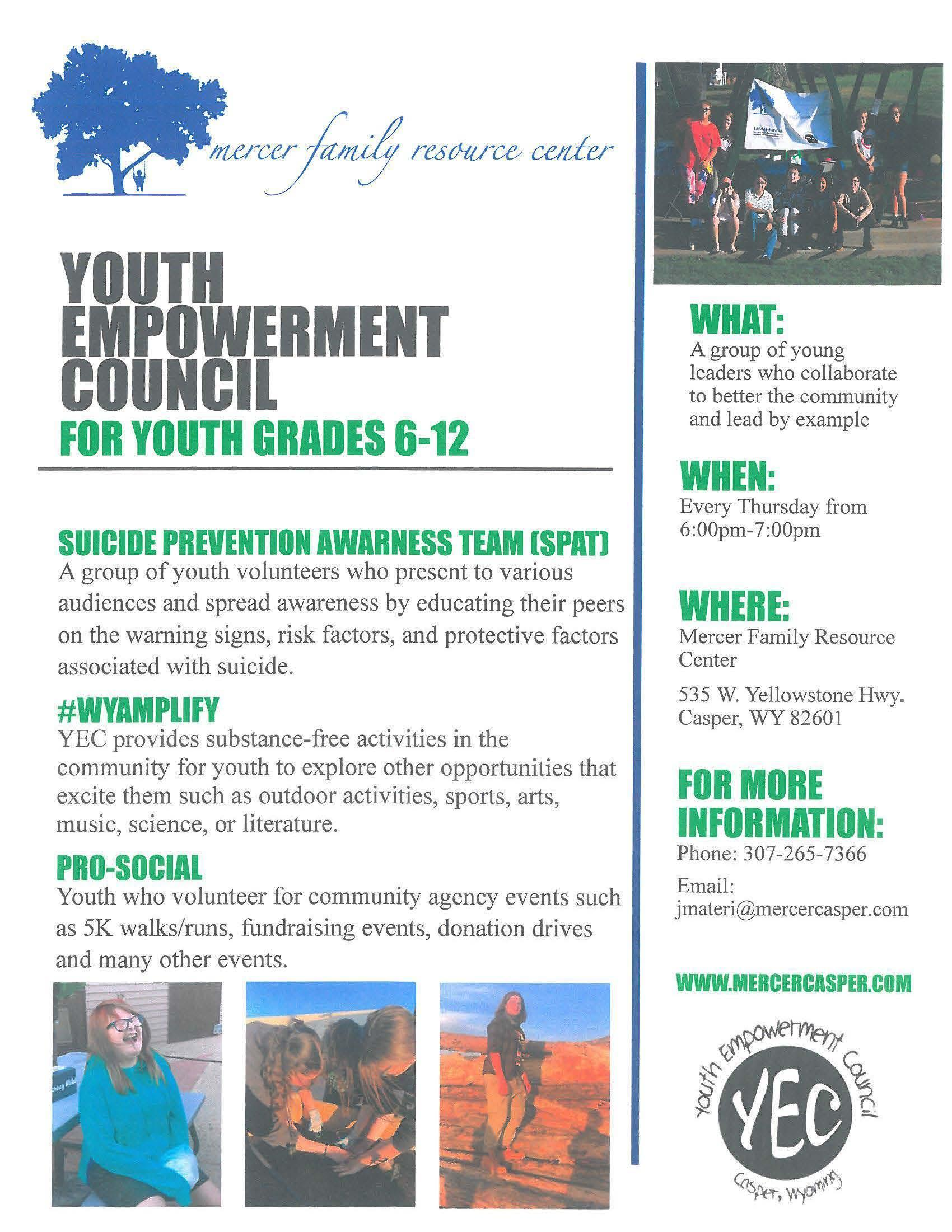 Youth Empowerment Council flyer
