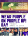 Purple UP Day graphic flyer