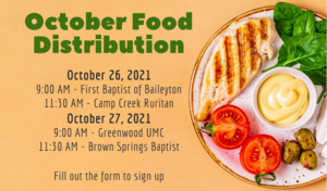 Family Resource Center October Food Distribution