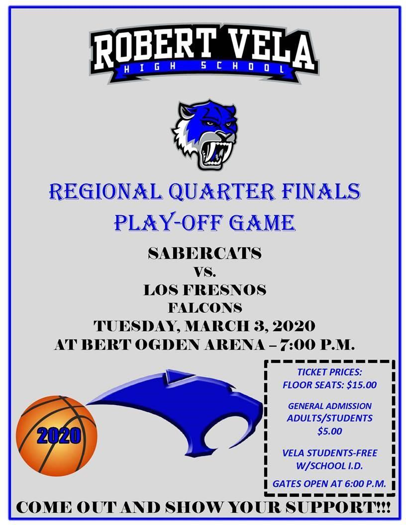 Regional Quarter Final Play-Off Game Sabercats vs Los Fresnos Falcons
