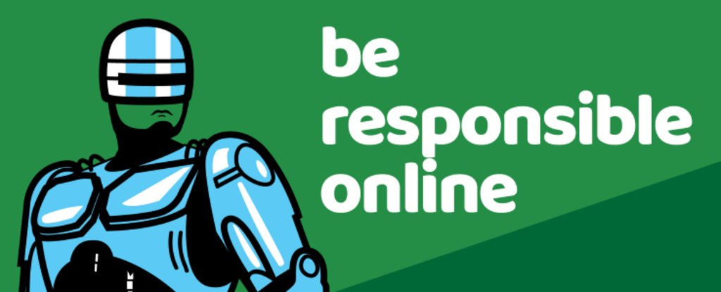 Be responsible online message