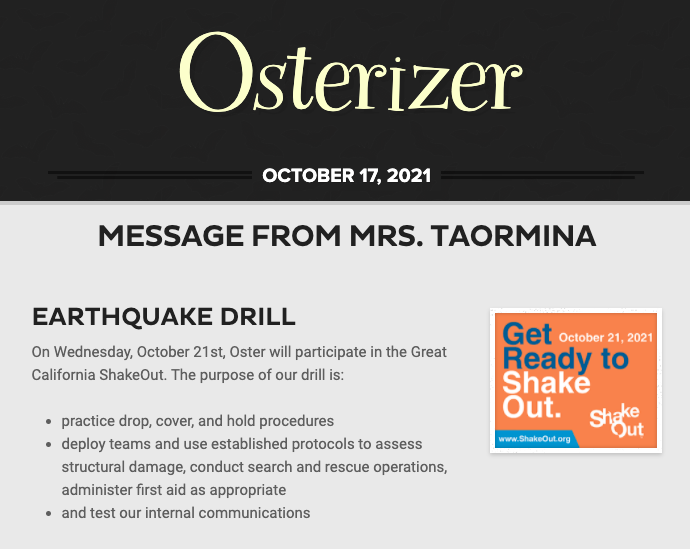 Osterizer - October 17th, 2021 Featured Photo