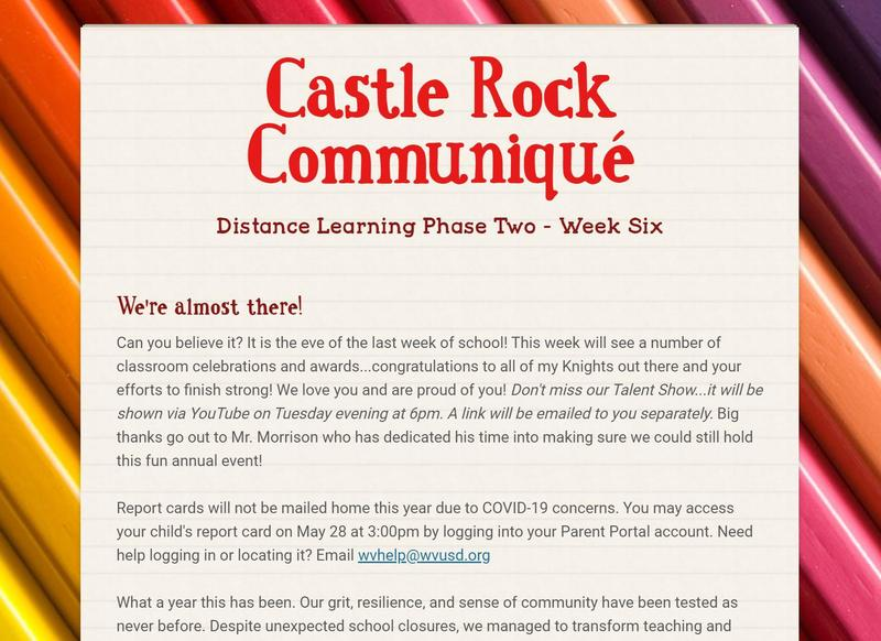 Principal's Newsletters Featured Photo