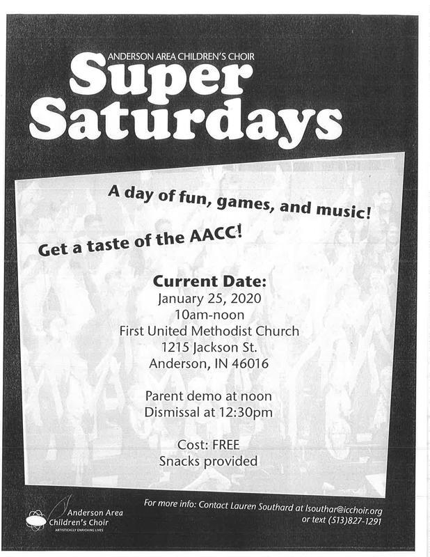 Anderson Area Children's Choir - Super Saturday Thumbnail Image