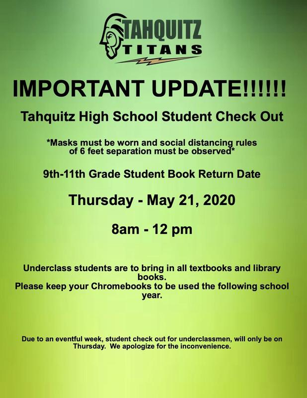 Underclassmen Student Check Out
