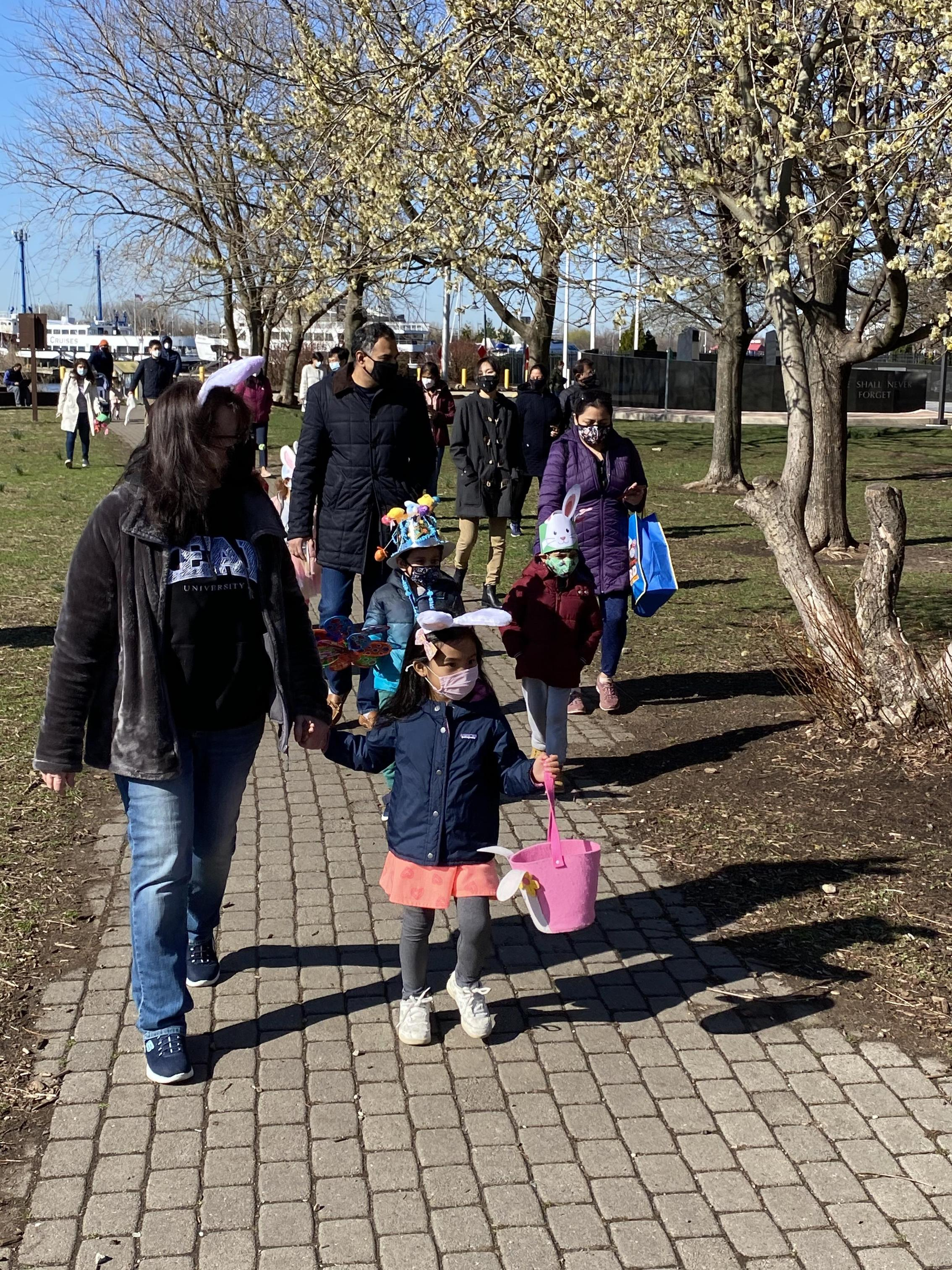 PS 16 Pre-K at the Danforth Ave Early Childhood Center held a Spring Extravaganza today at the Korean War Memorial on Washington St.