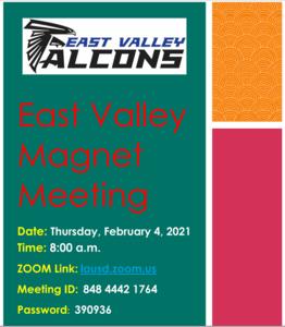 EVHS Magnet Meeting Flyer Image