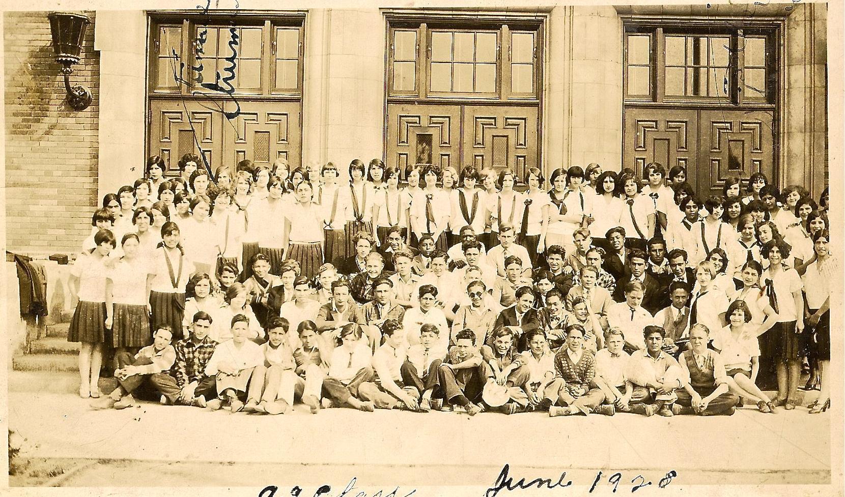 9th grade students at garfield 1928