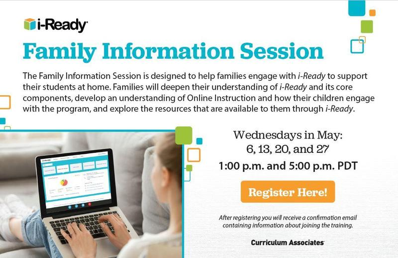 i-Ready Family Information Session Featured Photo
