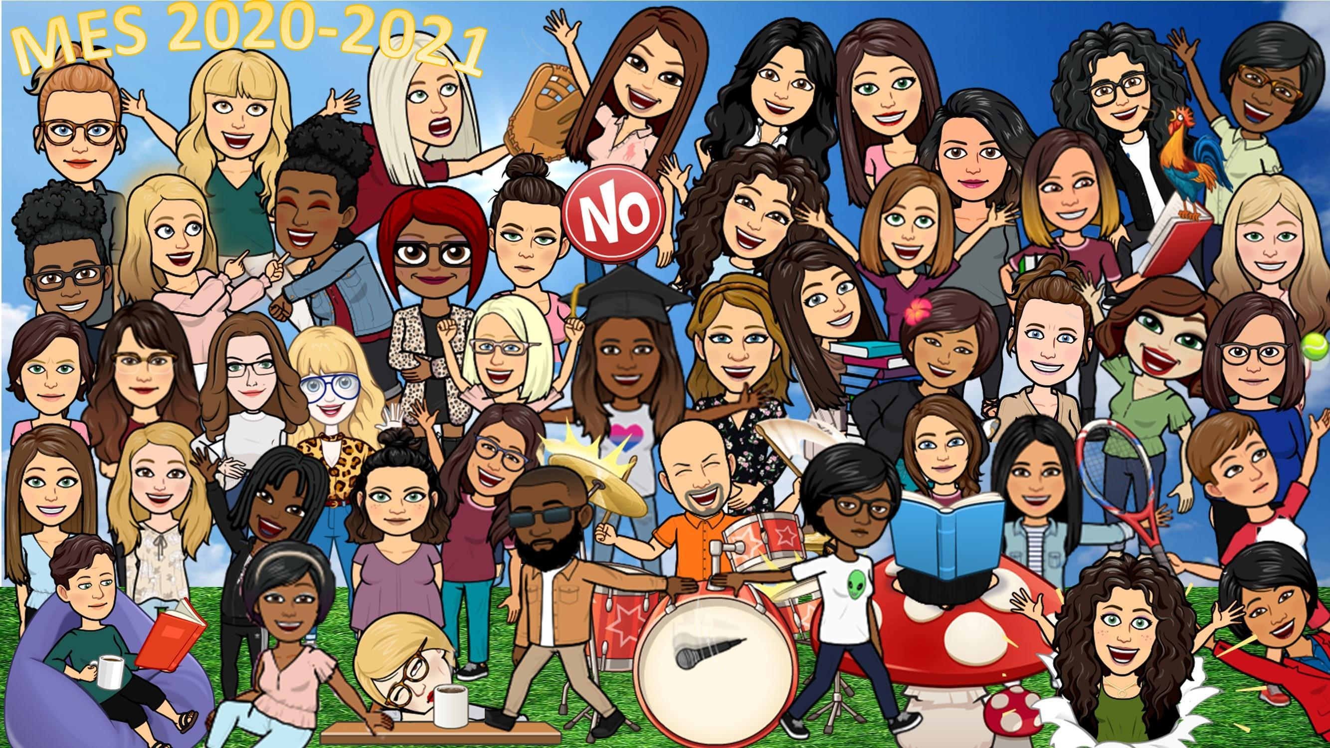 MES 20-21 Group Bitmoji Photo