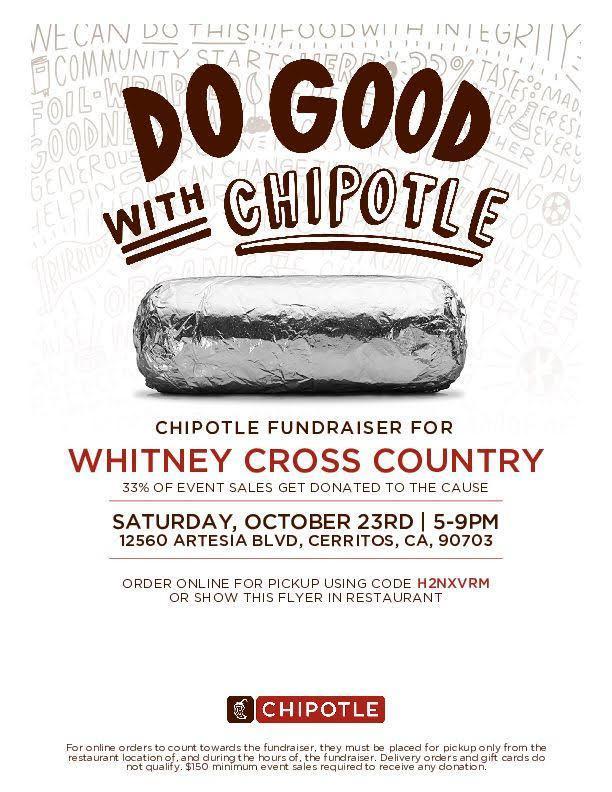 Cross Country fundraiser flyer