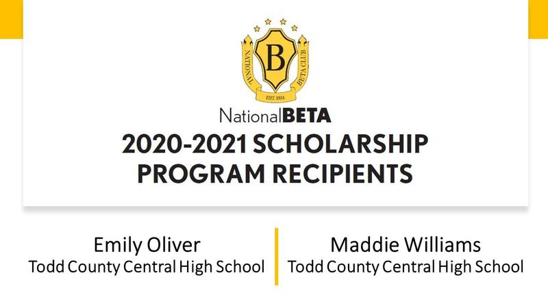 Two TCCHS Seniors Named National Beta Semifinalists Featured Photo