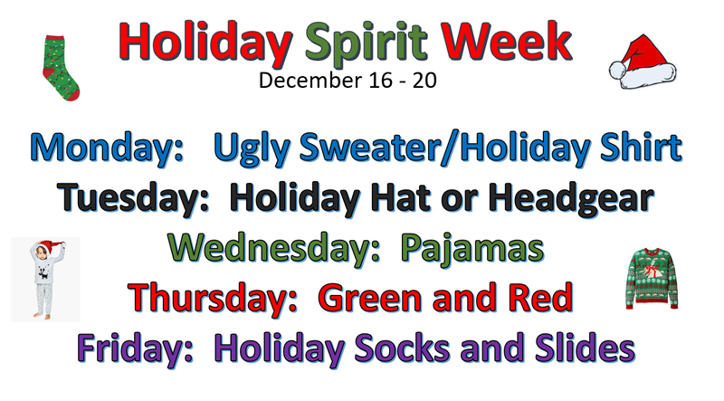 Elementary Holiday Spirit Week Thumbnail Image