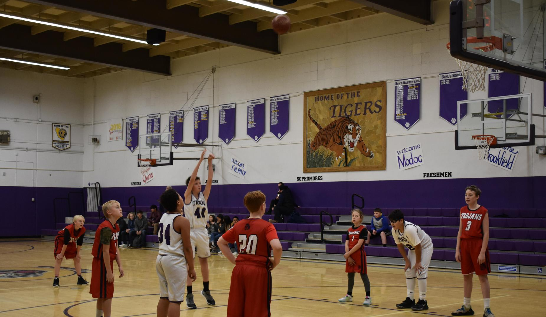 6th grade boys Free Throw at the Feather River Shootout