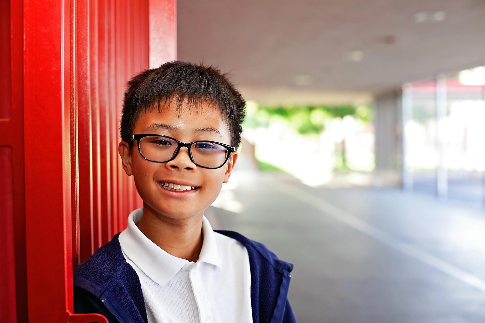 Boy in hall