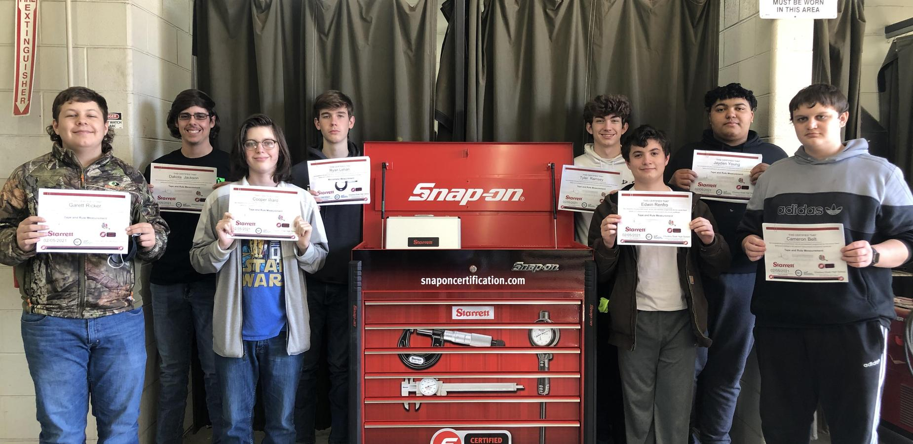 Ag students receive Snap-On Tools Certification
