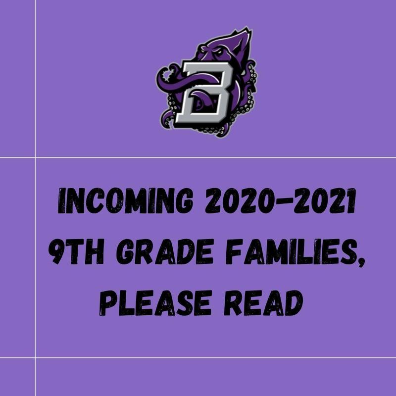 Incoming 9th Grade Families, Important information, please read Thumbnail Image