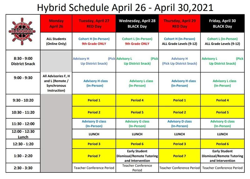 HYBRID Schedule for the week of April 26 - April 30, 2021 Featured Photo