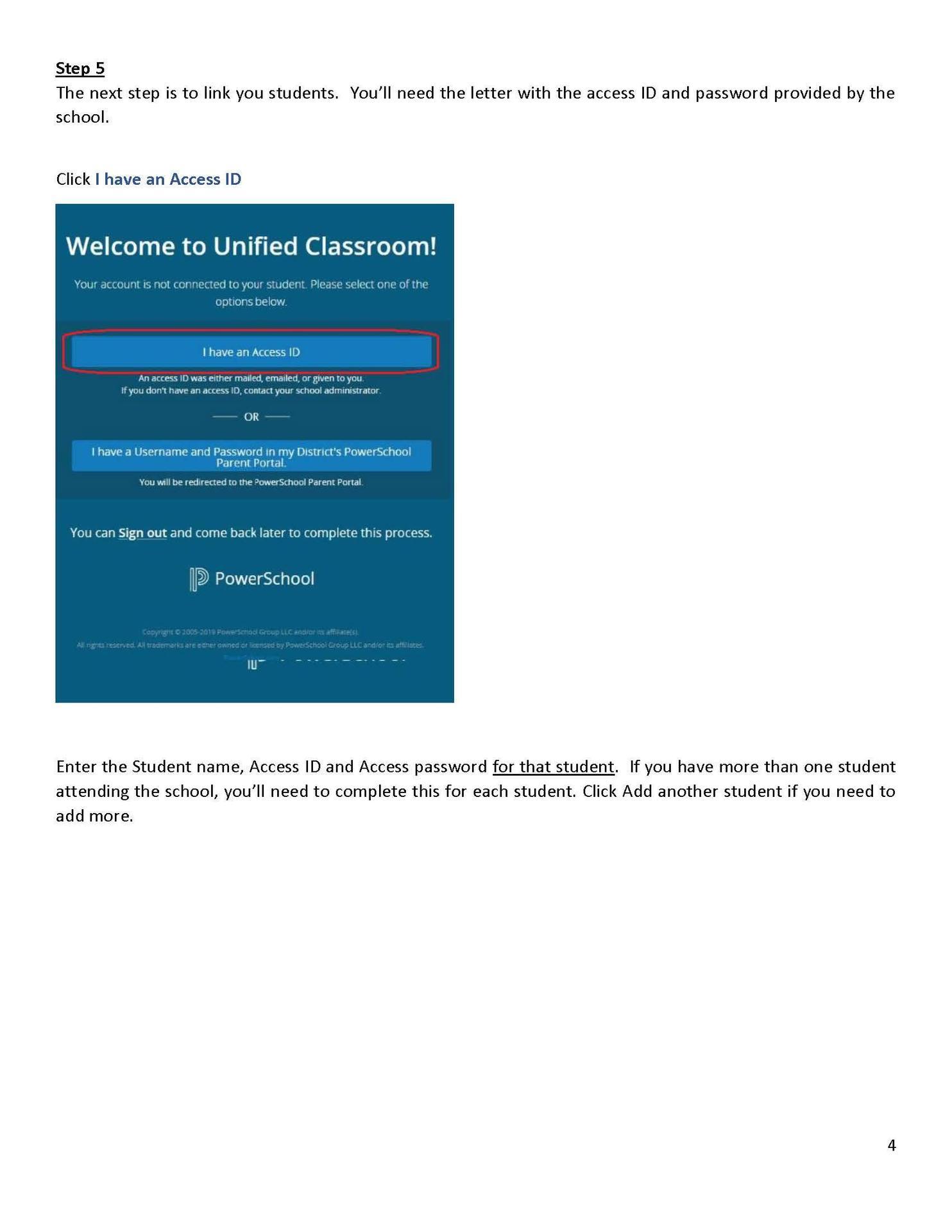 PowerSchool Parent Account Creation Instructions
