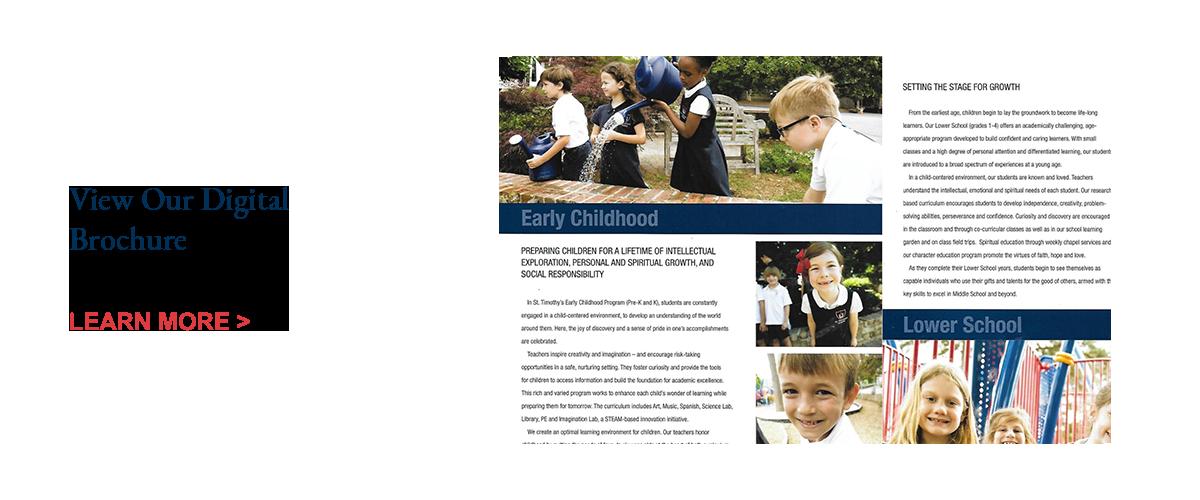View the St. Timothy's School digital brochure