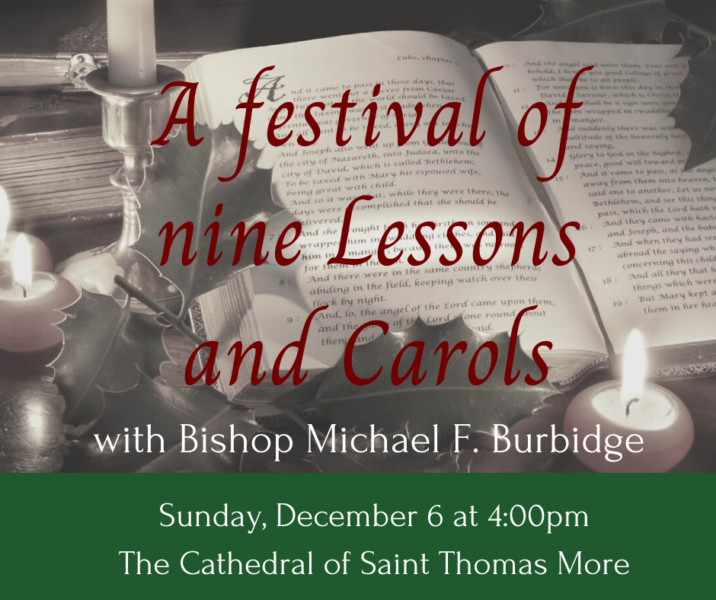 Lessons and Carols at the Cathedral – December 6, 2020 at 4:00 pm Featured Photo