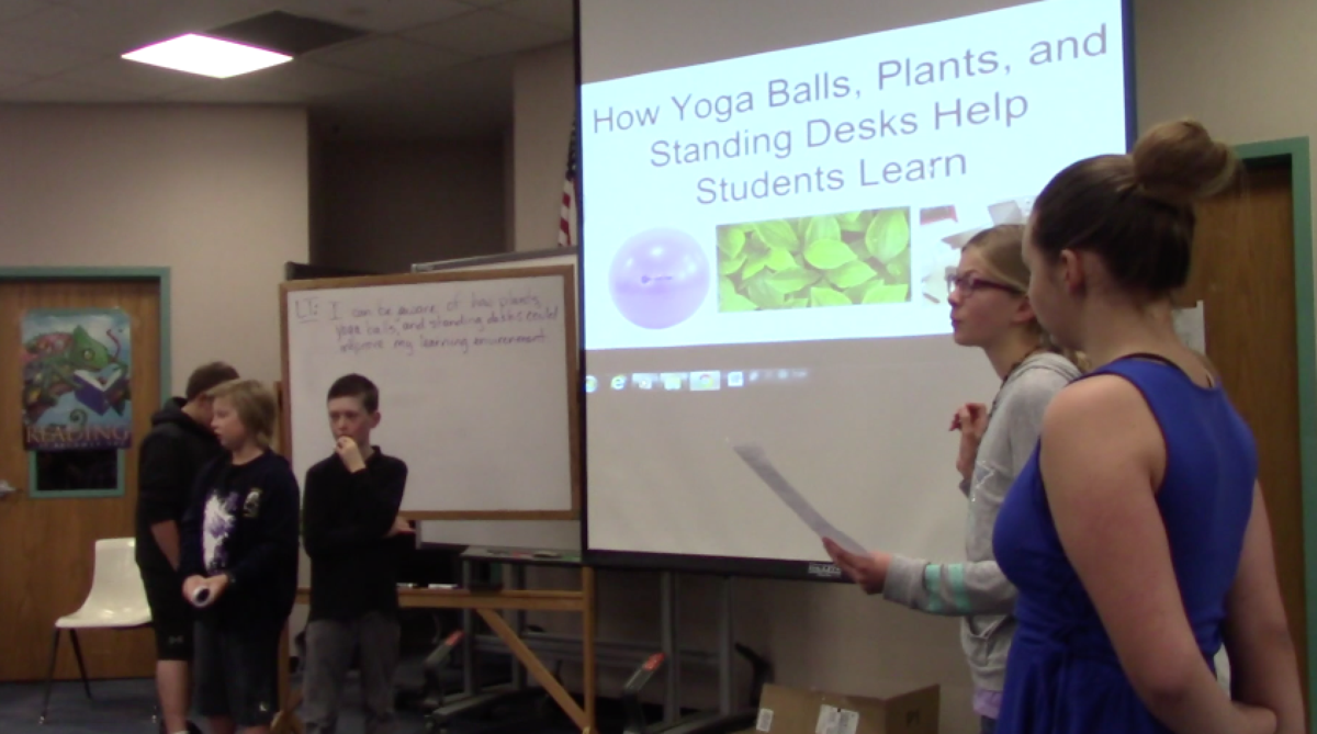 Here is a powerpoint about how yoga balls, plants, and standing help impact learning.