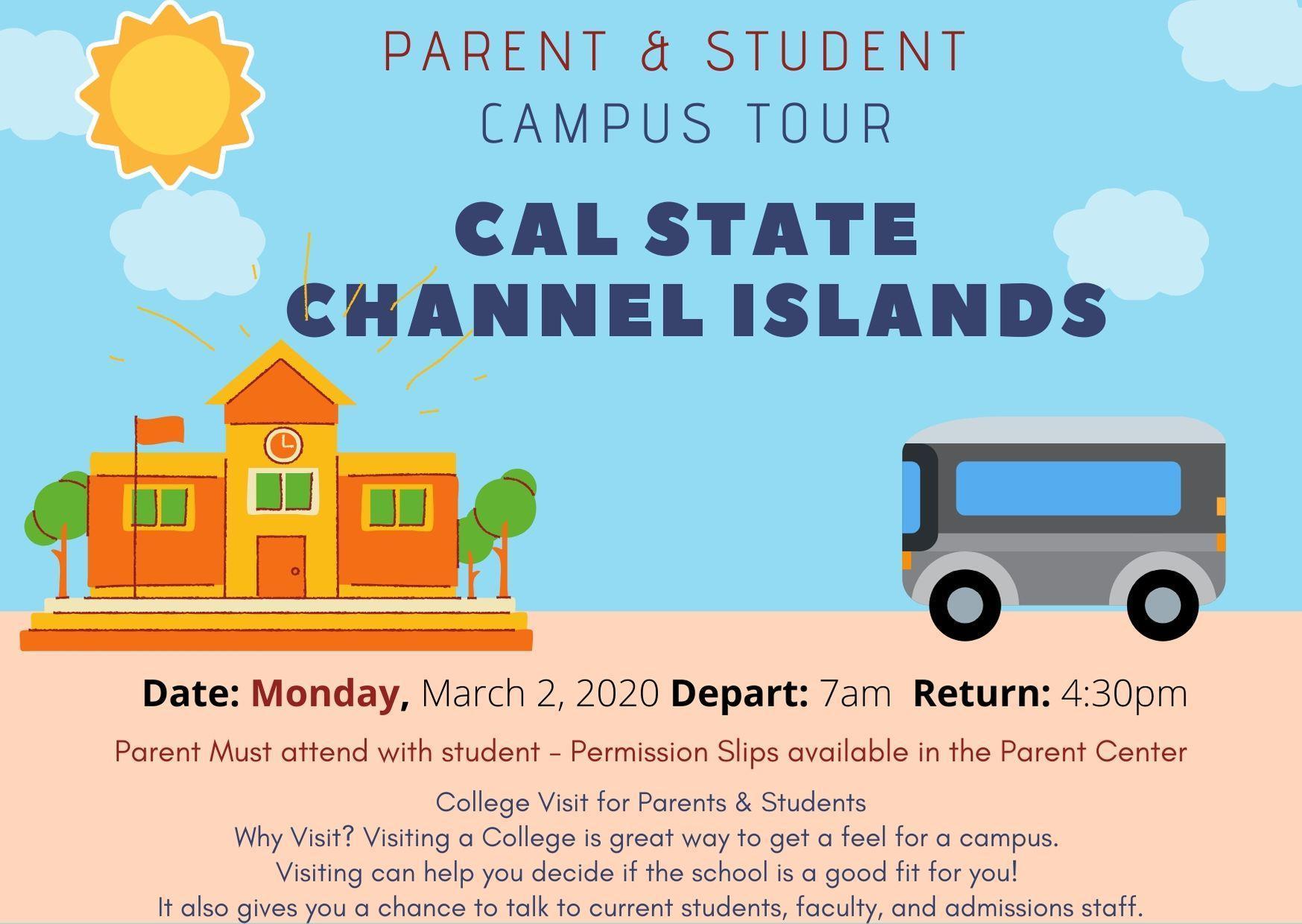CSUCI Parent & Student College Campus Tour