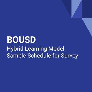 Hybrid Learning Sample Schedule
