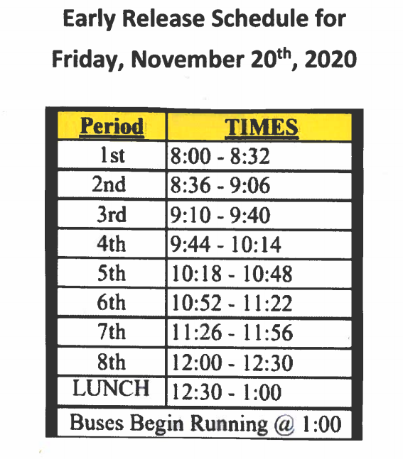 KHS Early Release Bell Schedule Featured Photo