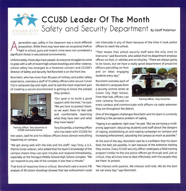 Culver City Neighbors Magazine Spotlight Featured Photo