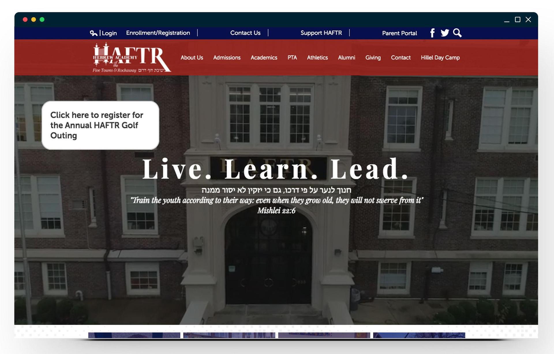 HAFTR homepage