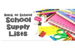 2018-2019 School Supply List
