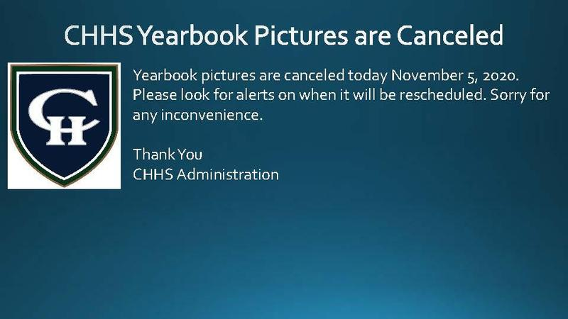 Yearbook Pictures Canceled today.
