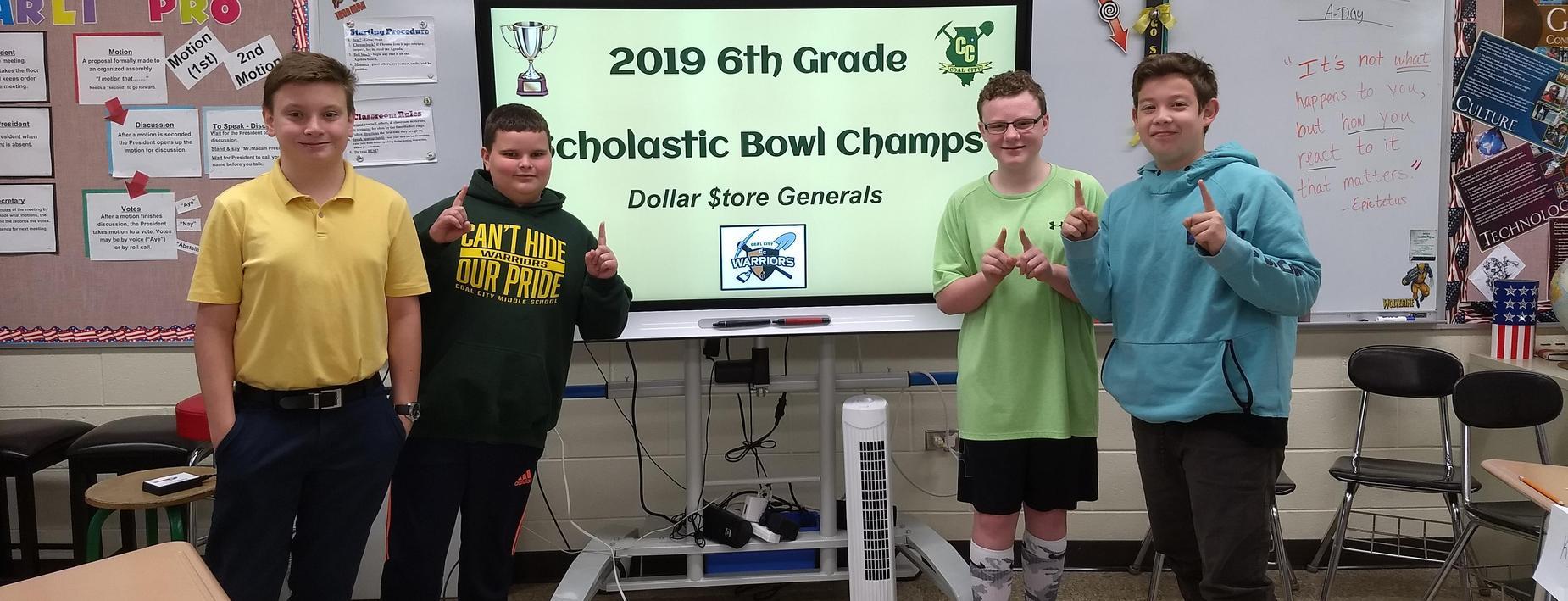 Scholastic Bowl Champs
